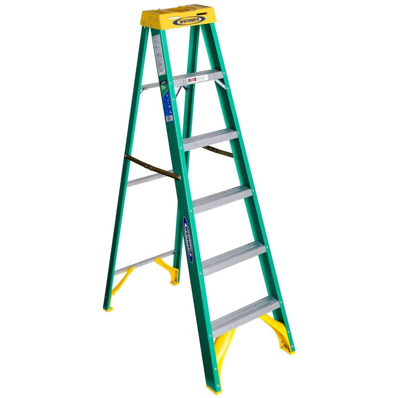 Werner Fiberglass Step Ladder - 6ft