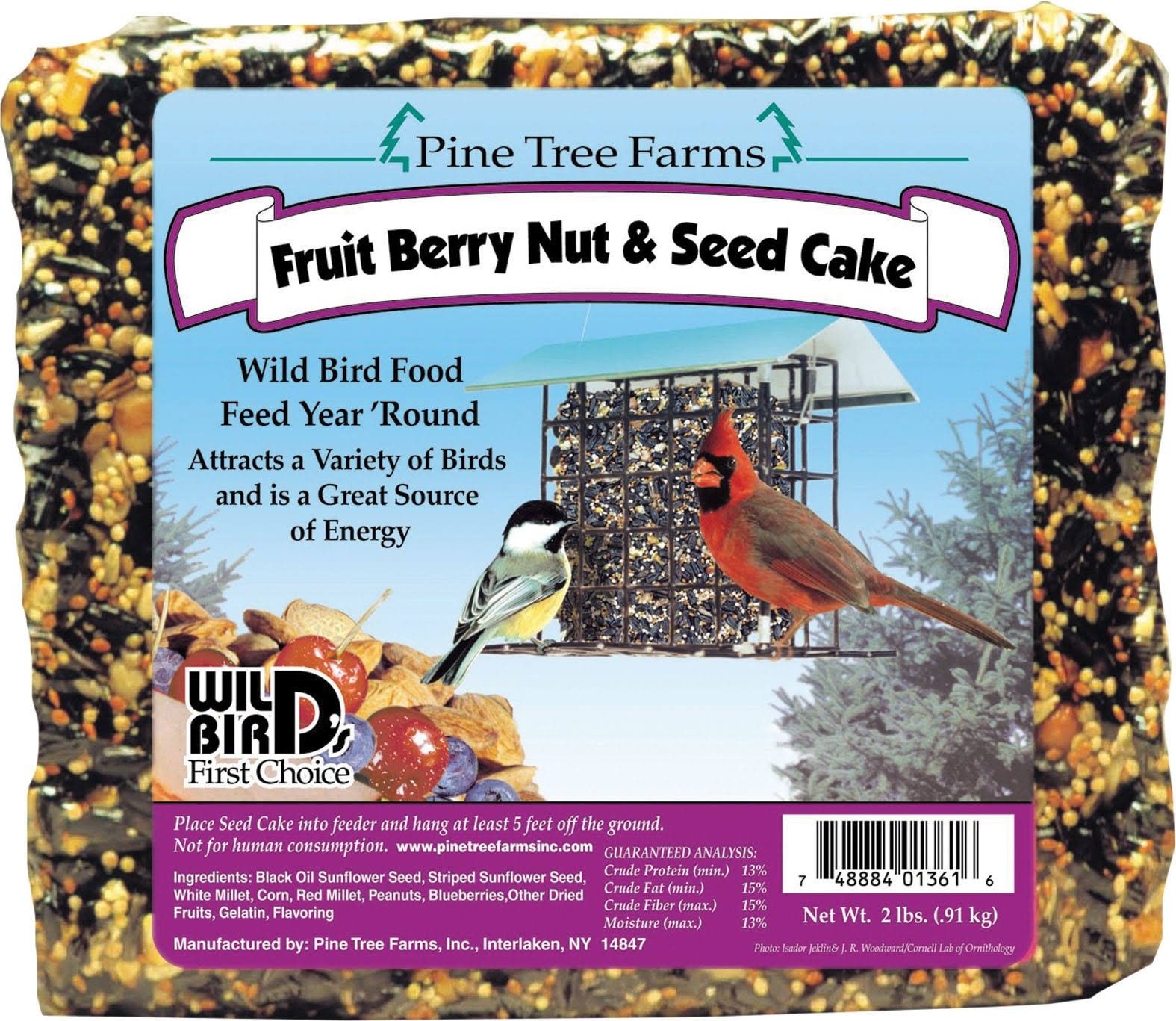 Pine Tree 1361 Seed Cake - Fruit Berry Nut And Seed, 2lb