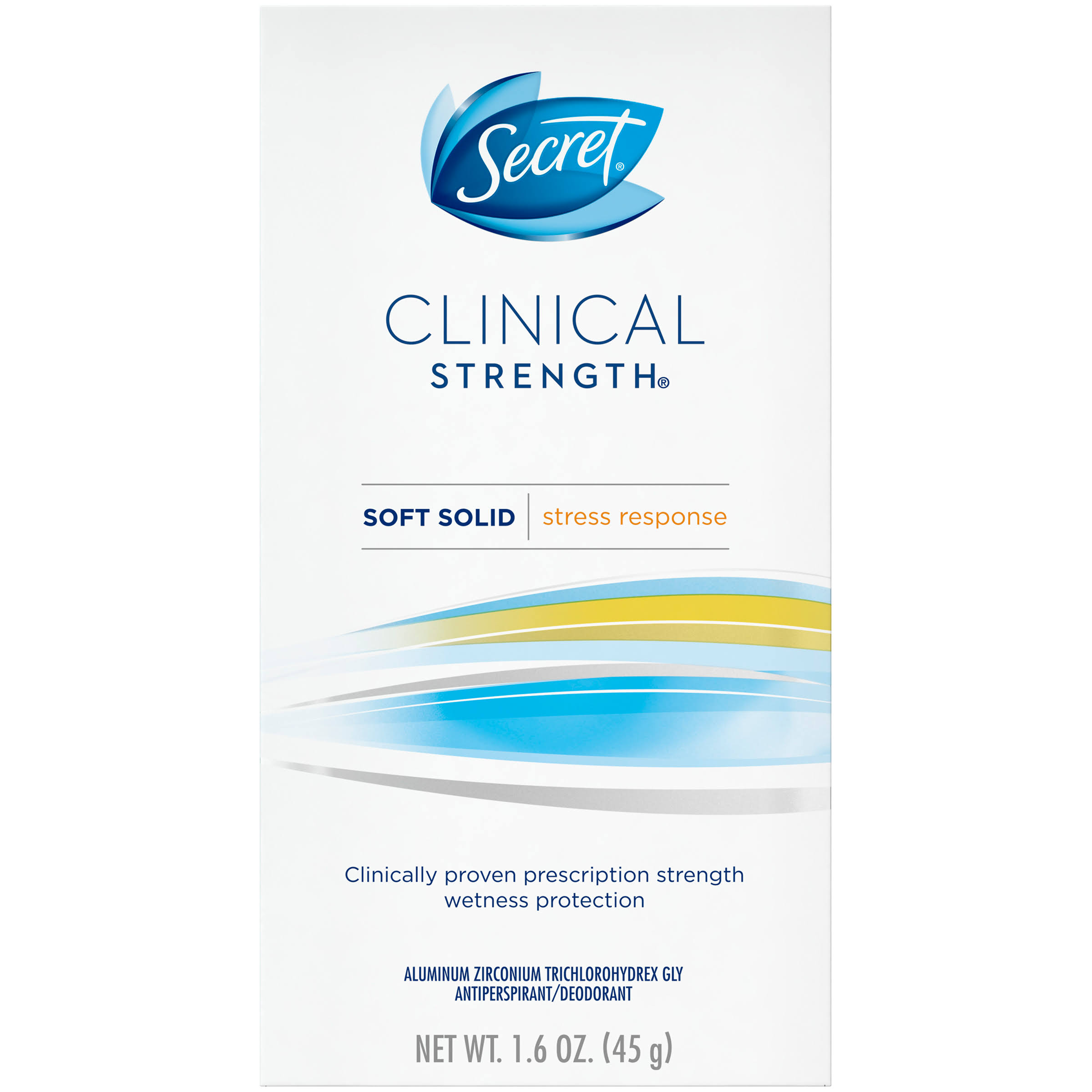 Secret Clinical Strength Stress Response Smooth Solid Antiperspirant - 1.6 oz