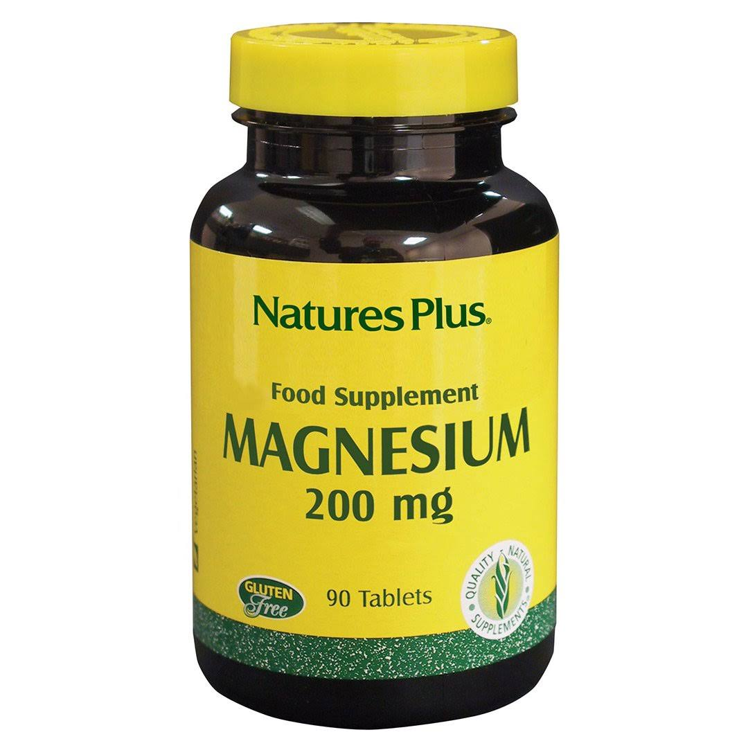 Nature's Plus Magnesium Dietary Supplement - 200mg, 90 Tablets