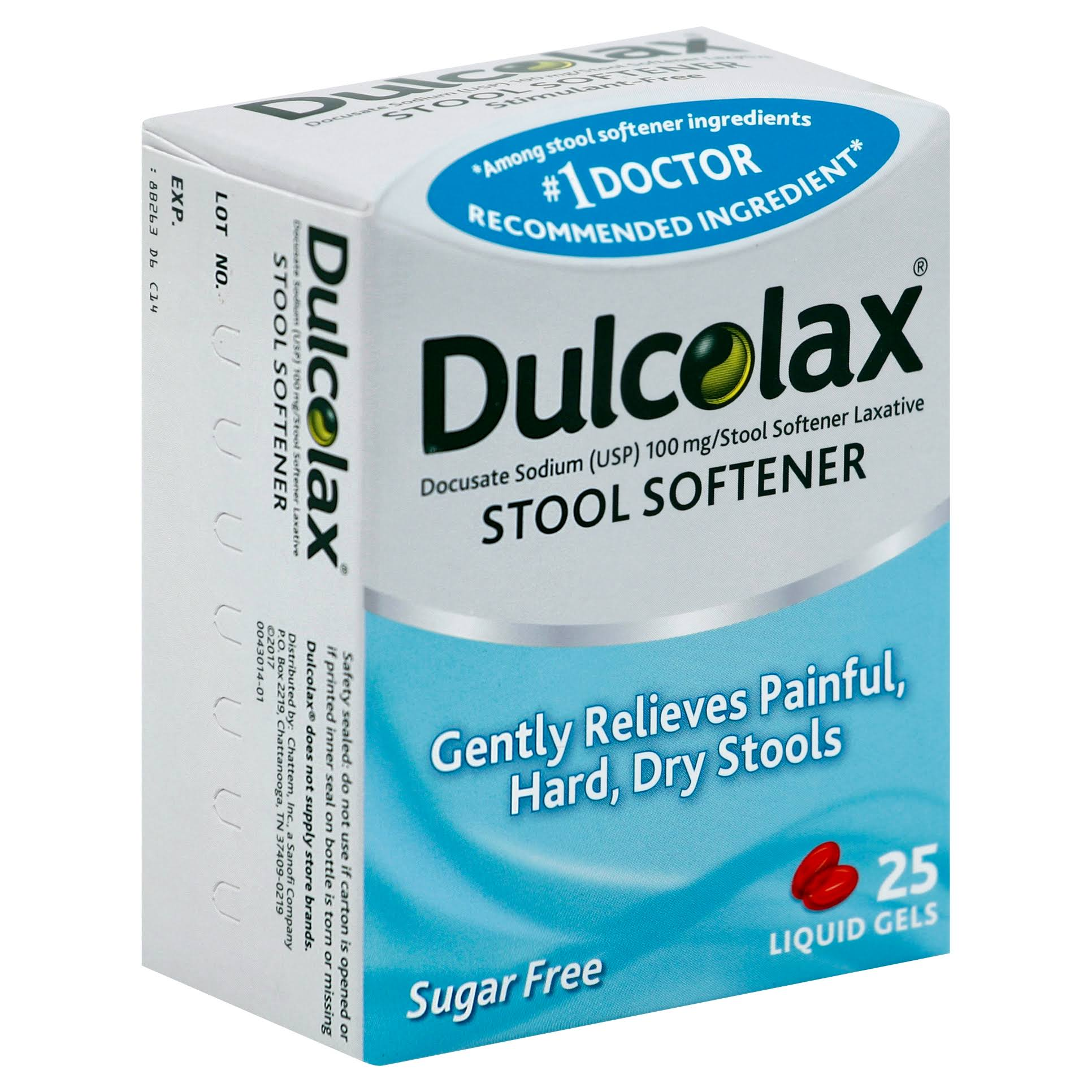 Dulcolax Stool Softener Constipation Relief - 25 Liquid Gels