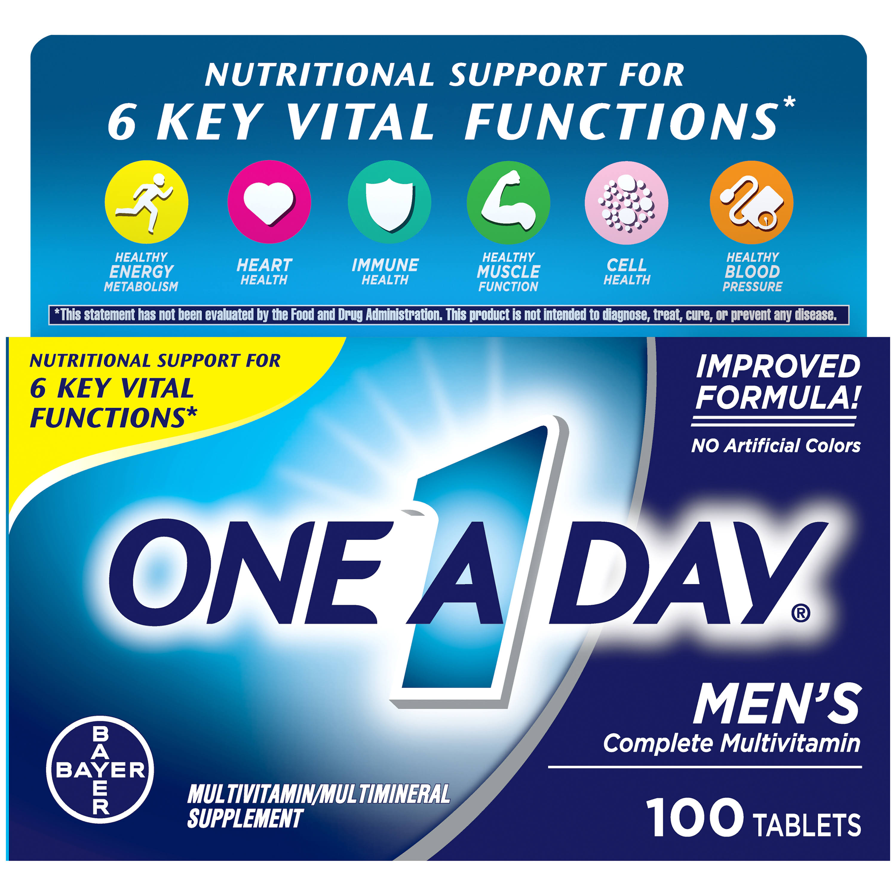 One-A-Day Men's Multivitamin Dietary Supplement - 100 Tablets