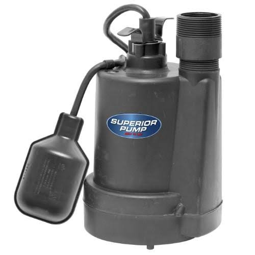 Submersible Thermoplastic Sump Pump - 1/4 HP