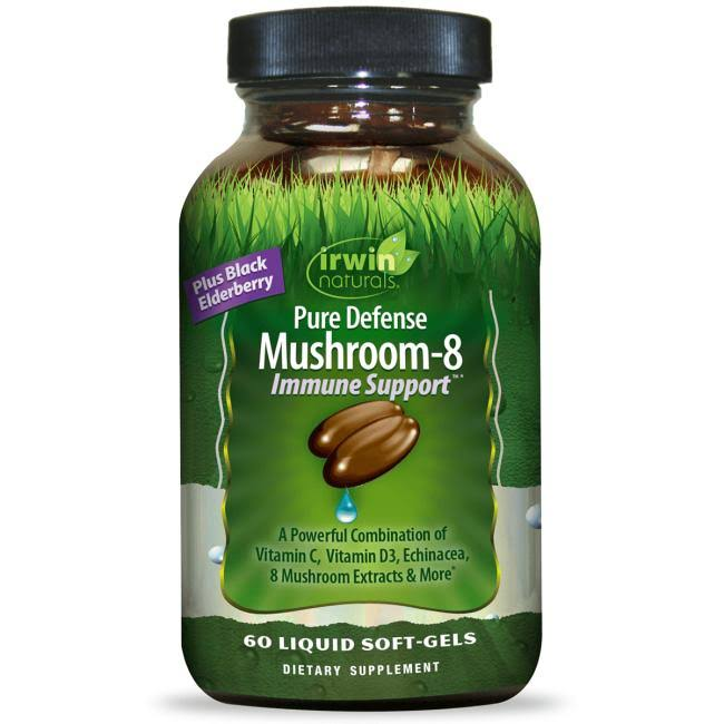 Irwin Naturals - Pure Defense Mushroom-8 Immune Support - 60 Softgels