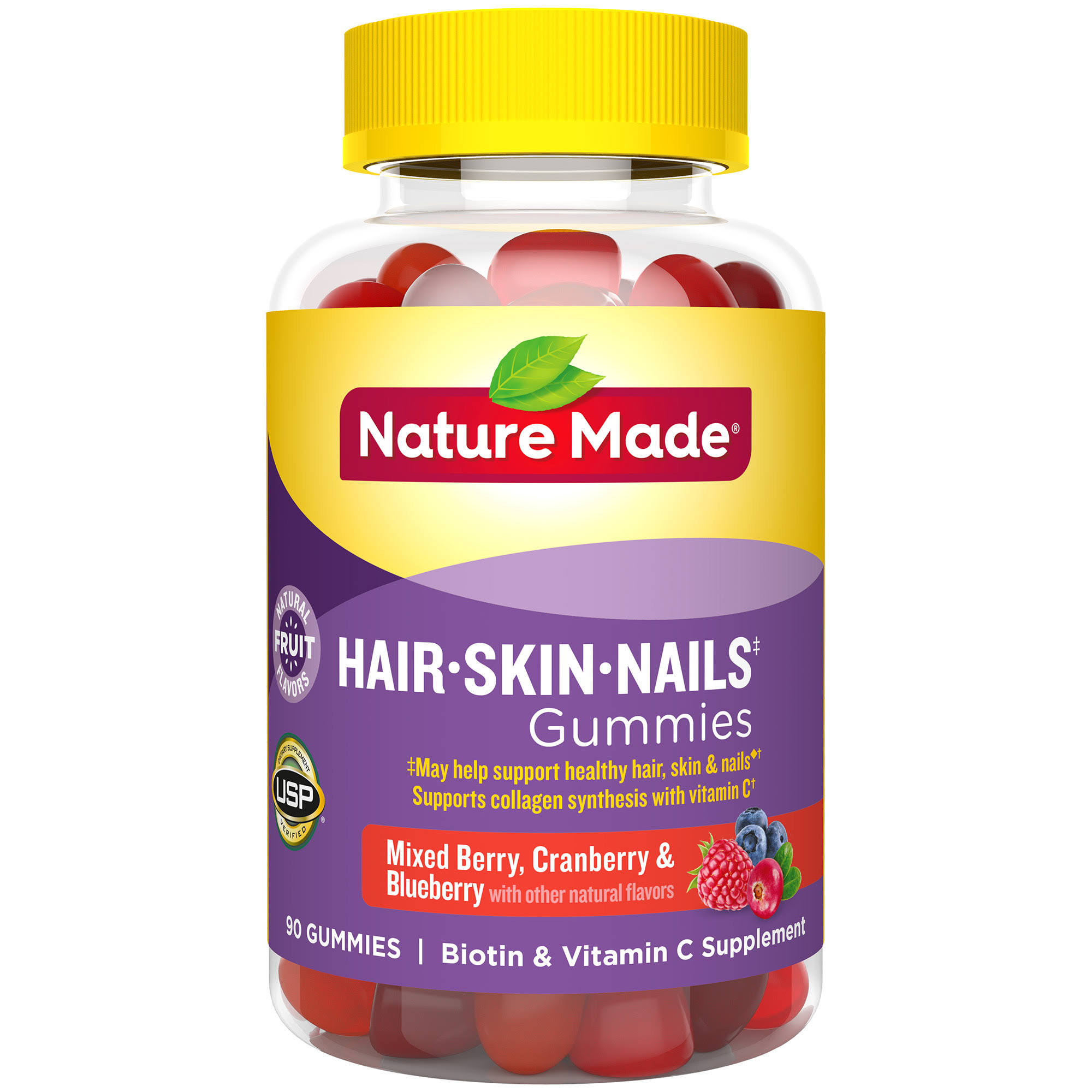 Nature Made Nails Adult Gummies - Mixed Berry, Cranberry and Blueberry, 90ct