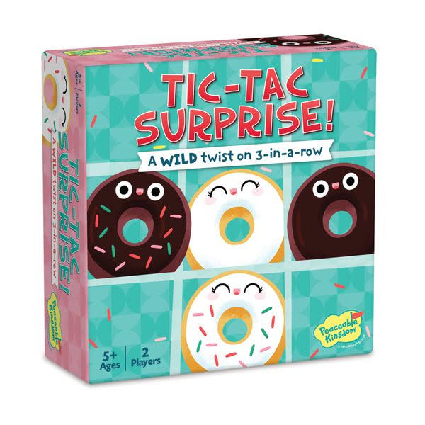 Peaceable Kingdom | Tic Tac Surprise: Vanilla vs. Chocolate Doughnuts