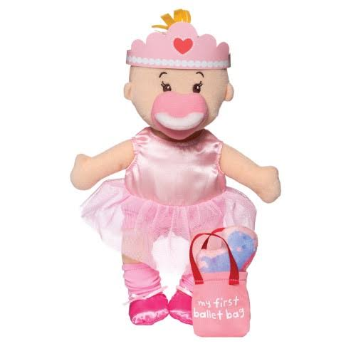 Manhattan Toy Wee Baby Stella Tiny Ballerina Soft Baby Doll Set - 30cm