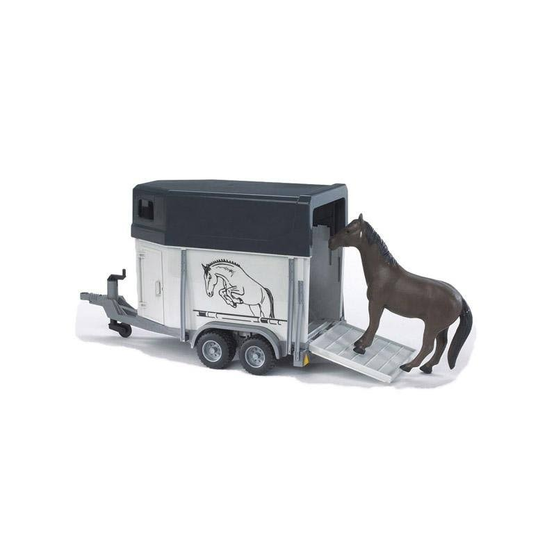 Bruder Horse Trailer With Horse - 1:16 Scale
