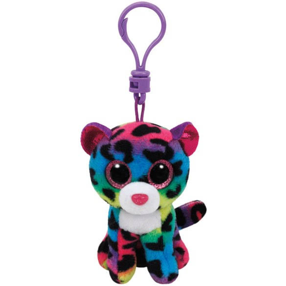 Ty Beanie Boos Dotty The Leopard Plush Clip Keychain