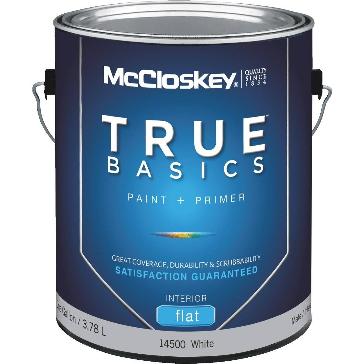 McCloskey True Basics Latex Paint & Primer Flat Interior Wall Paint