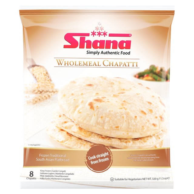 Shana Simply Authentic Food Wholemeal Chapatti - 320g