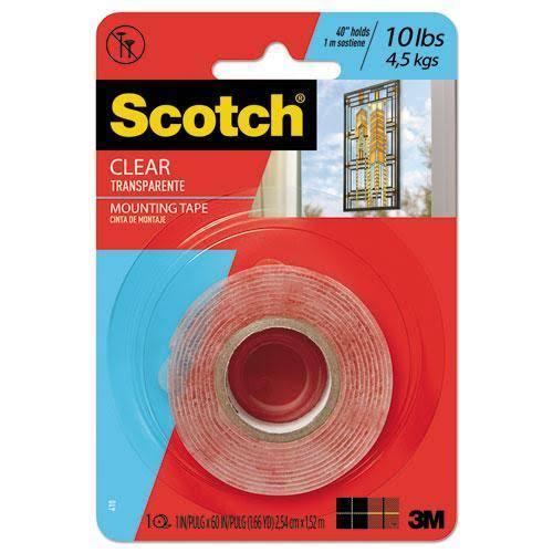 3M Scotch Heavy Duty Mounting Tape - Clear