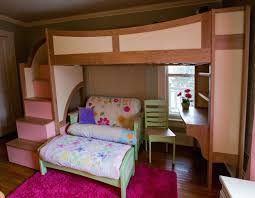 unique bunk beds with stairs and desk saver loft twin over bed