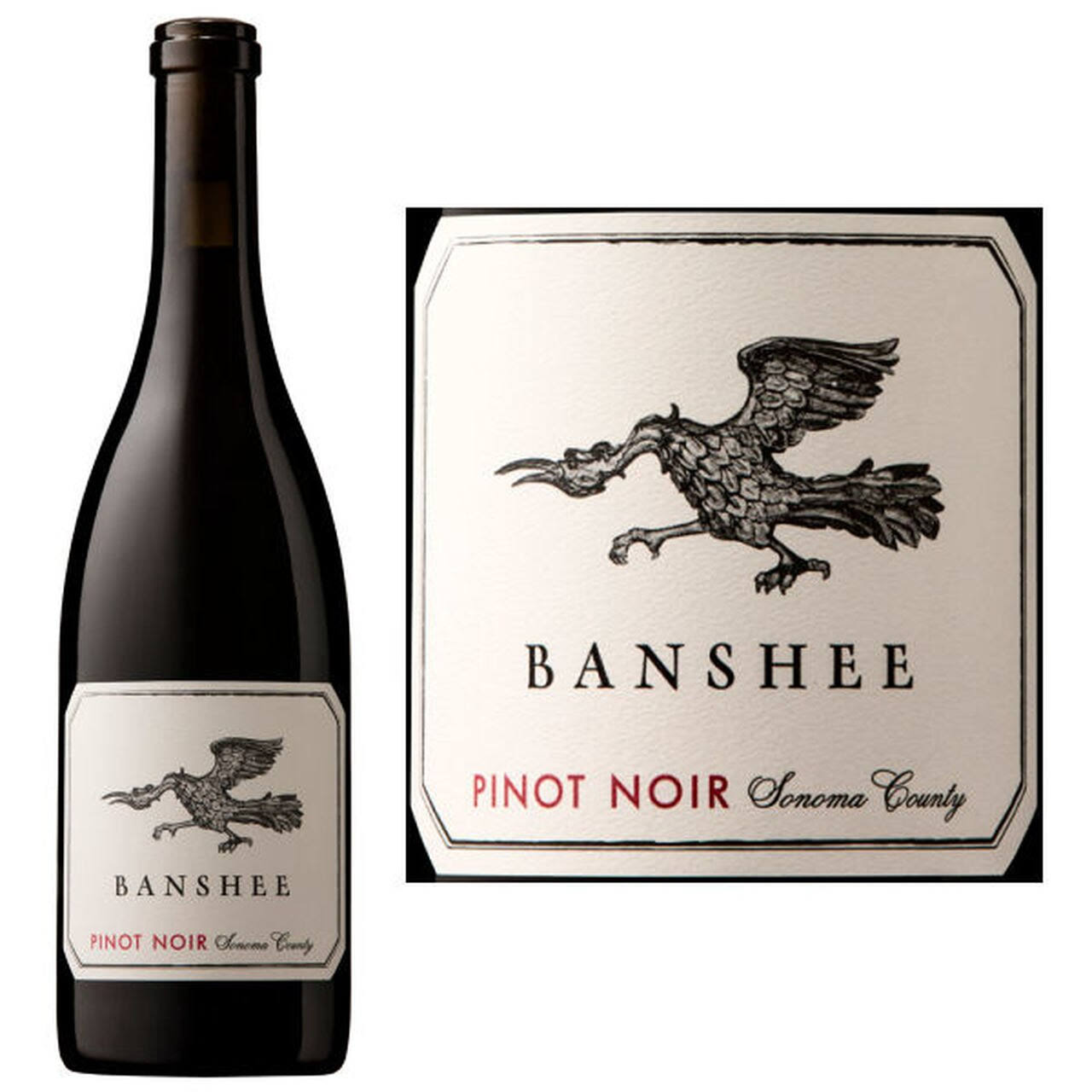 Banshee Pinot Noir, Sonoma County (Vintage Varies) - 750 ml bottle