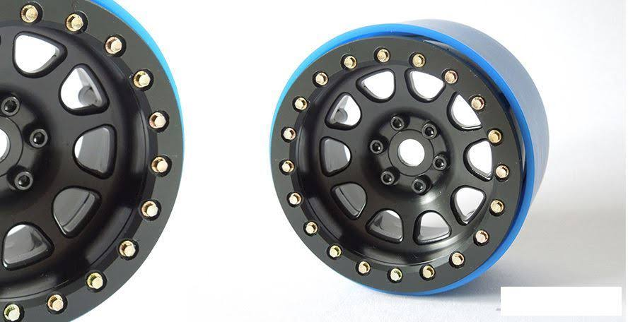 "SSD RC 2.2"" D Hole PL Wheels (Black) (2)"