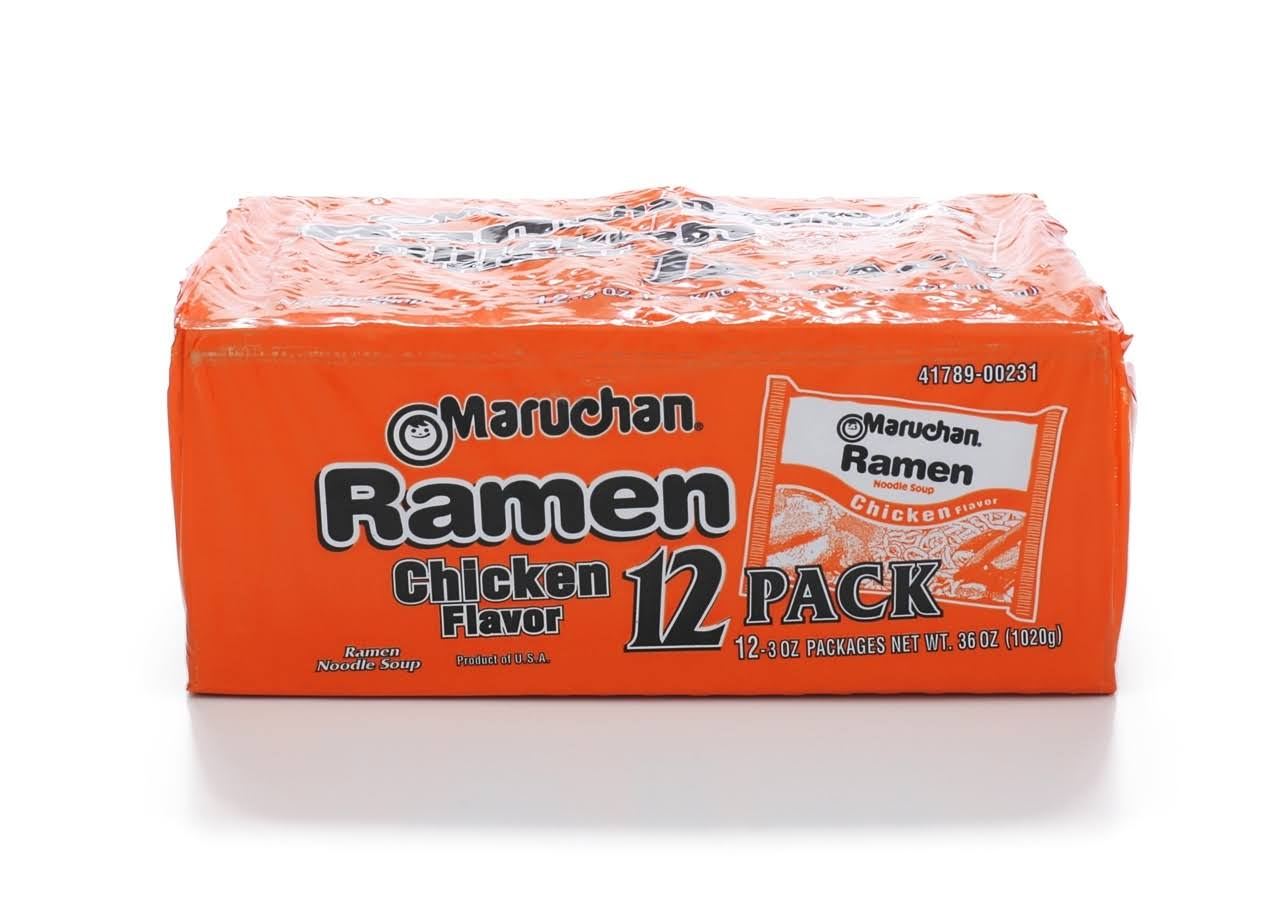 Maruchan Ramen Noodle Soup - Chicken Flavor, 3oz, 12ct