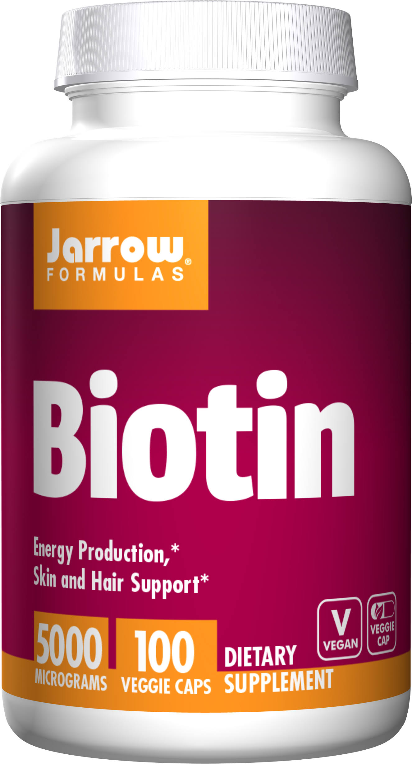 Jarrow Formulas Biotin Supplement - 100 Capsules