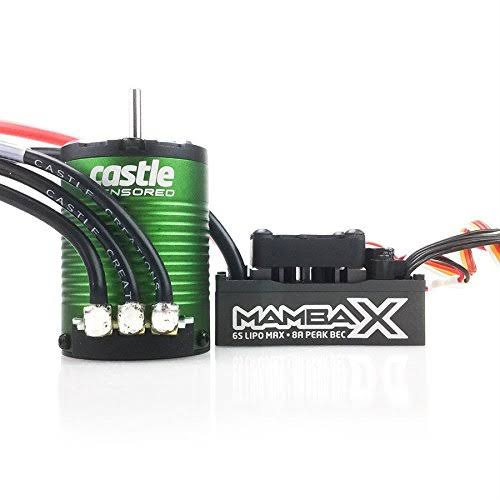 Castle Creations Mamba X Sensored Motor with 2s Lipo Ec3 Rc Toy Speed Controler Parts - 5700kv