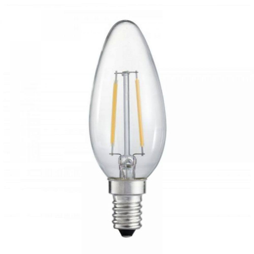 Lyveco Ses Candle Led 4 Filament Bulb - Clear, 470 Lumens, 4W