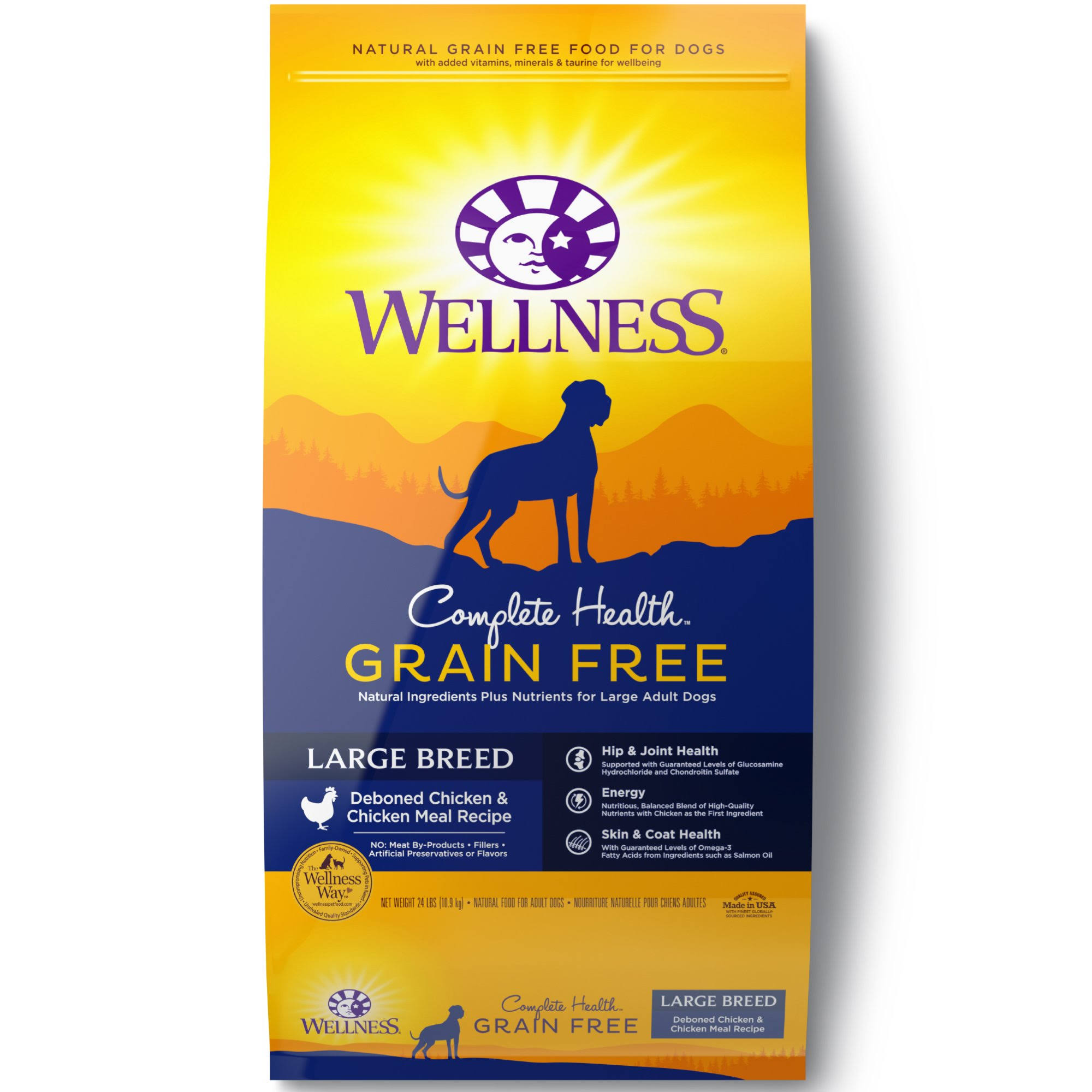 Wellness Complete Health Large Breed Dry Dog Food - Chicken, 24 Lb