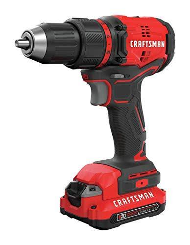 Craftsman 20V Max 20 Volt Brushless Cordless Compact Drill/Driver 1/2 in. Kit 1900 RPM