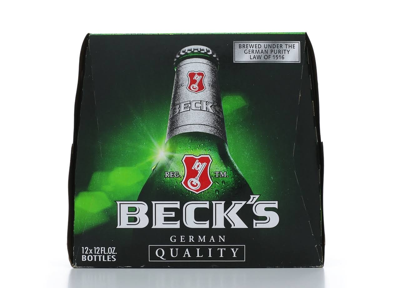 Becks Beer - 12 pack, 12 fl oz bottles
