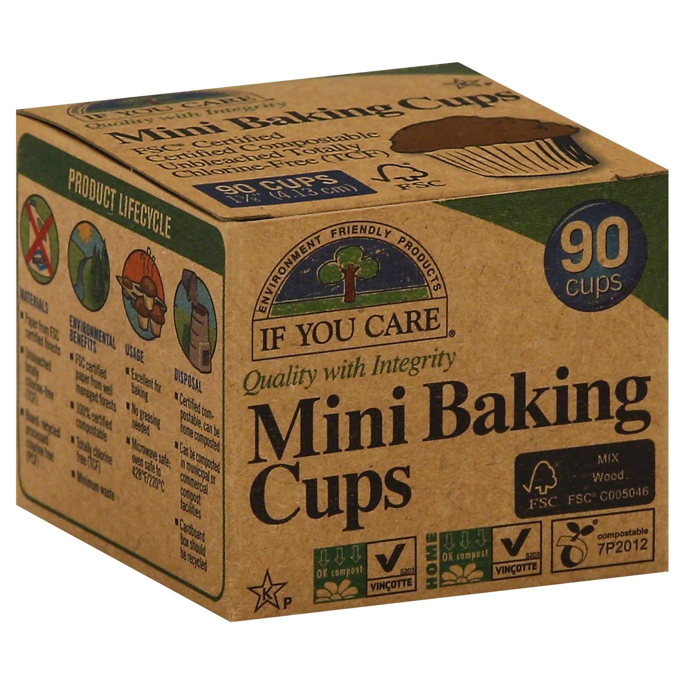 If You Care Mini Baking Cups - 90 Cups