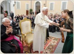 Папа во время концерта в Кастель Гандольфо