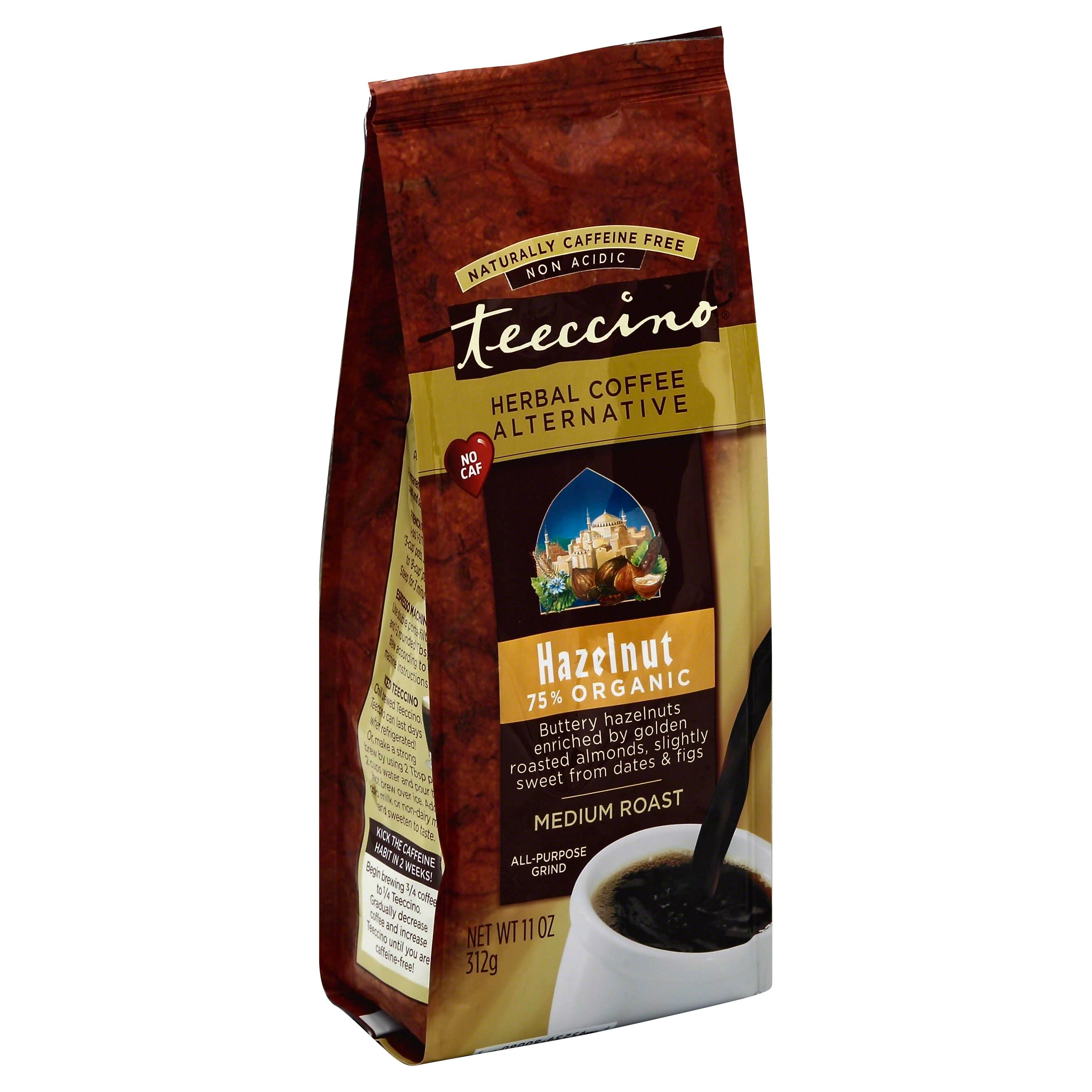 Teeccino Mediterranean Caffeine-Free Herbal Coffee - Hazelnut, 11oz