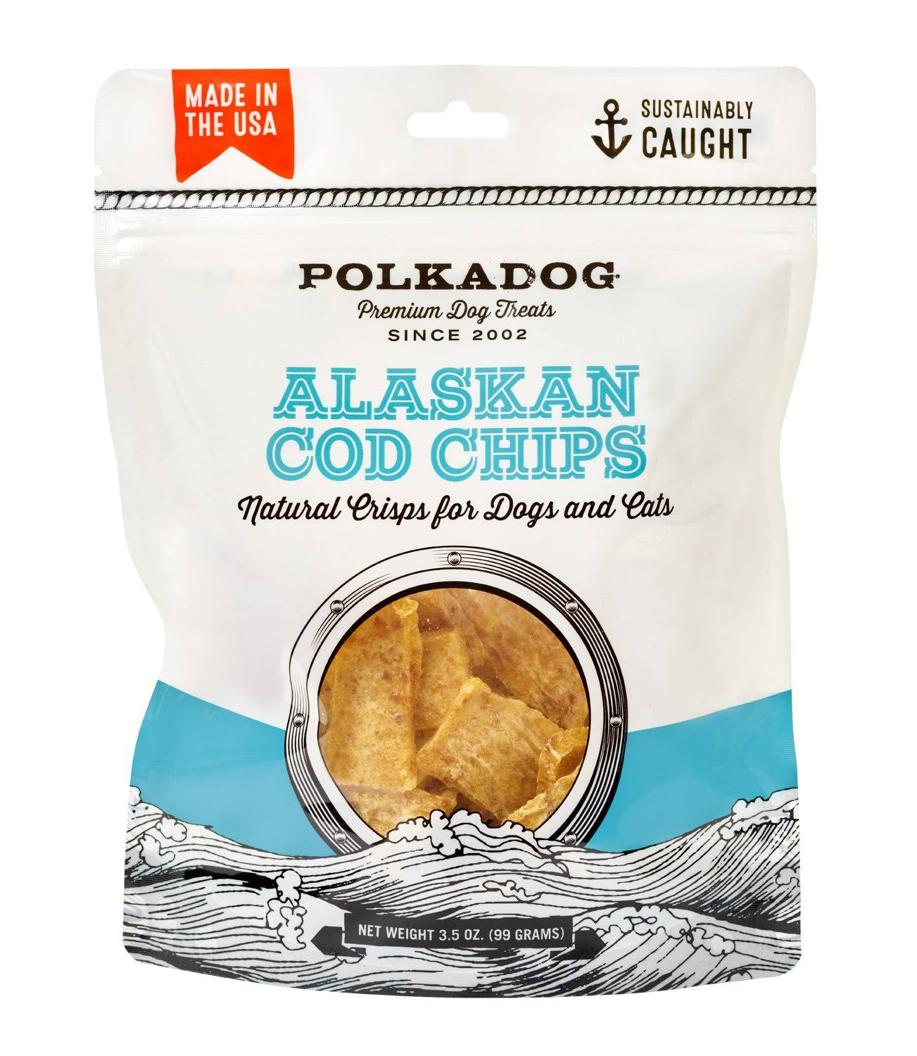 Polka Dog Bakery Alaskan Cod Chips 3.5oz
