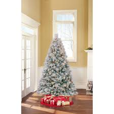 Vickerman Flocked Slim Christmas Tree by Holiday Time Pre Lit 7 U0027 Westwood Pine Flocked Artificial Christmas