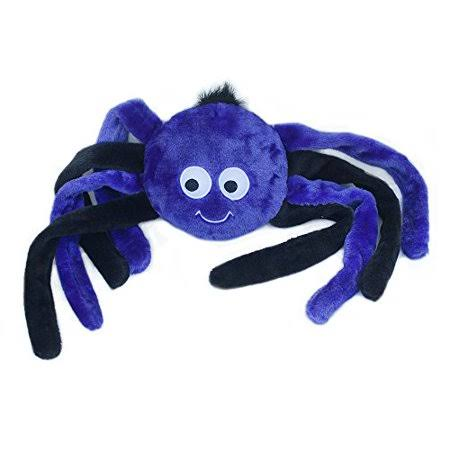 ZippyPaws Grunterz Grunting Plush Dog Toy - Purple Spider