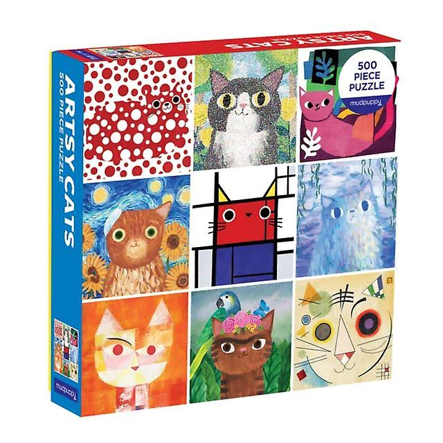 Mudpuppy Artsy Cats Family Jigsaw Puzzle - 500pcs