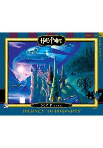 New York Puzzle Company Harry Potter Journey to Hogwarts 500 Piece Jigsaw Puzzle