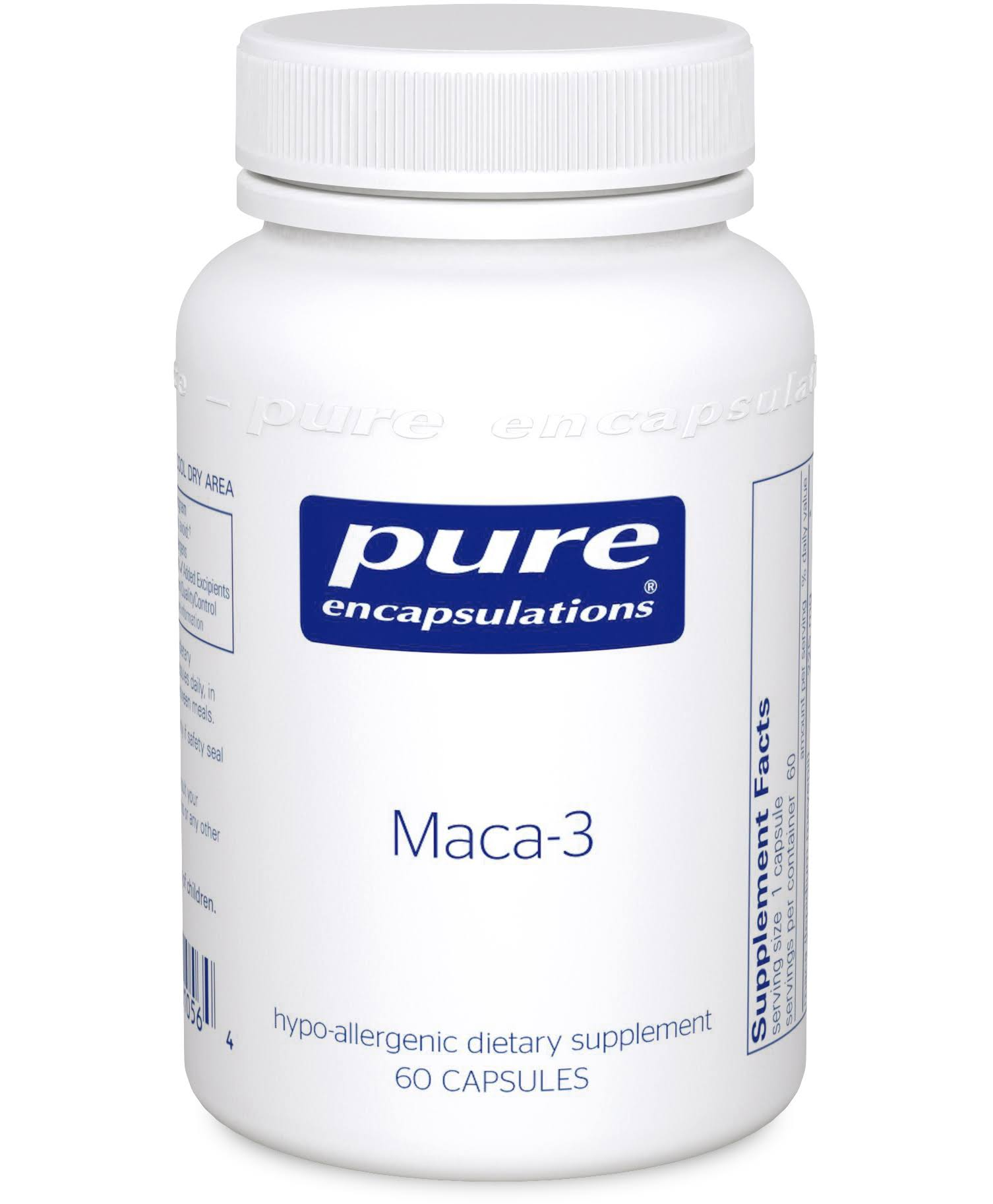 Pure Encapsulations Maca-3 Dietary Supplement - 60 Capsules