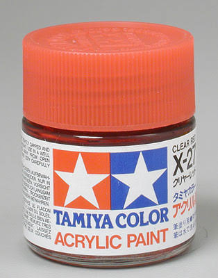 Tamiya 81027 Acrylic X27 Clear Red 3/4 oz