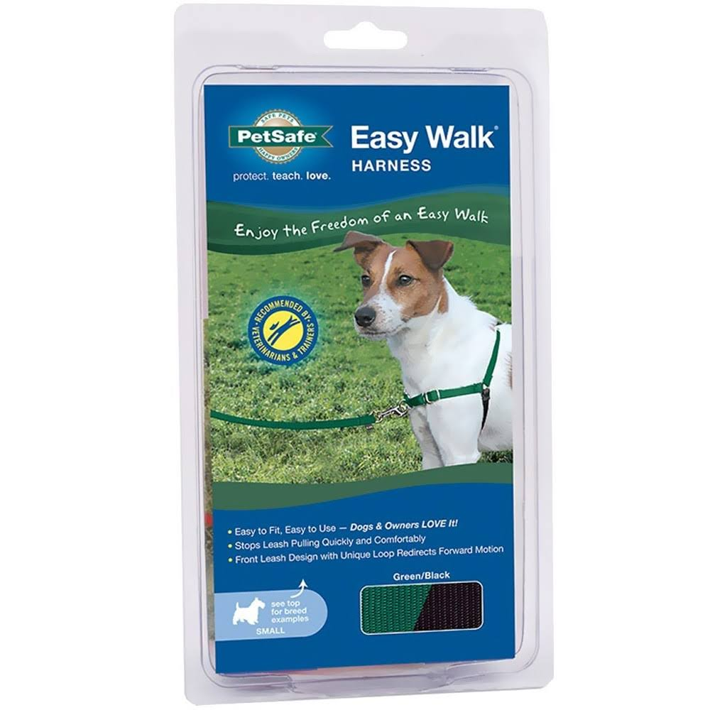 PetSafe Easy Walk Dog Harness - Green & Black, Small