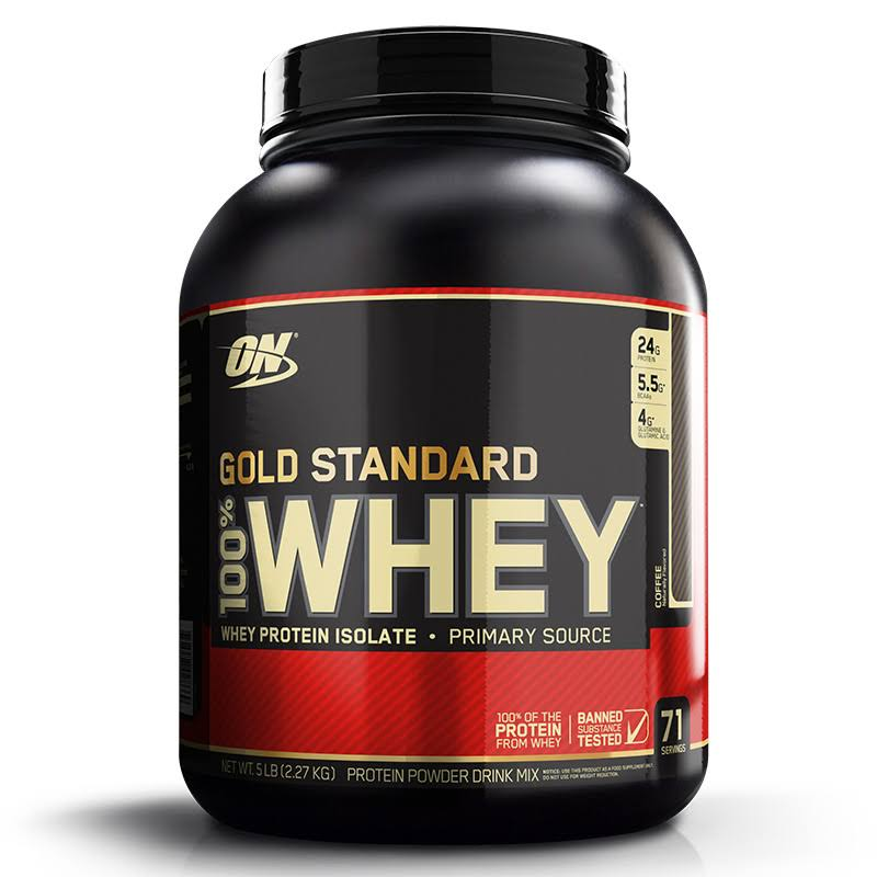 Optimum Nutrition Gold Standard Whey Protein Powder Supplement - 5lb, Coffee