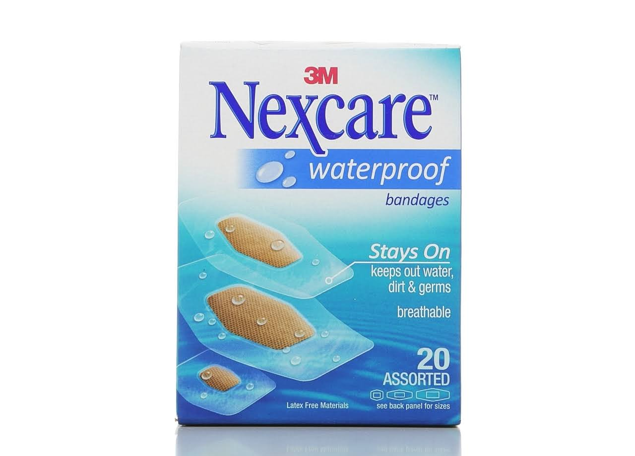 3M Nexcare Waterproof Bandages - 20 Count