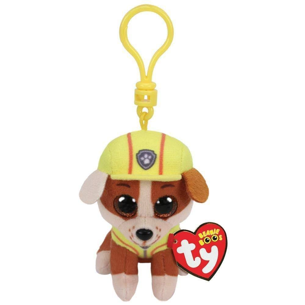 Ty Paw Patrol Plush Clip - Rubble, 8.5cm
