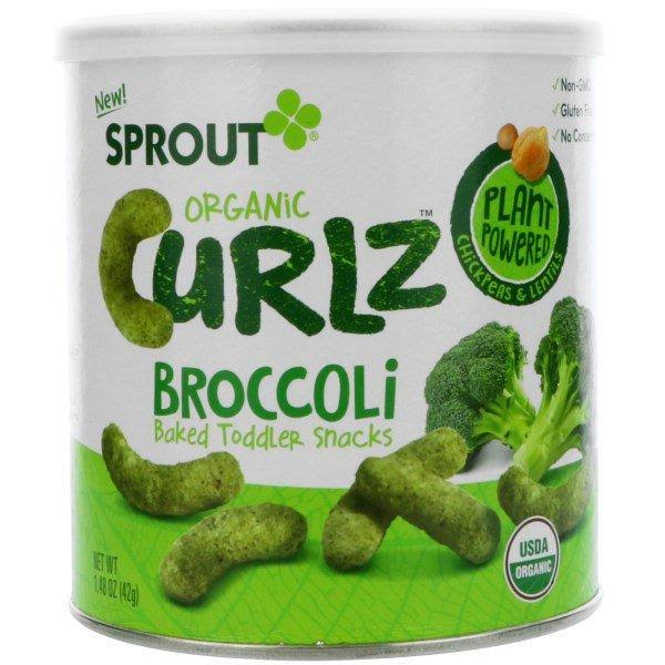 Sprout Organic Curlz Toddler Snacks - Broccoli, 1.48oz