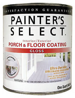 True Value MFG Ugf10-qt Porch and Floor Coating - Gloss, Dark Gray, 1qt