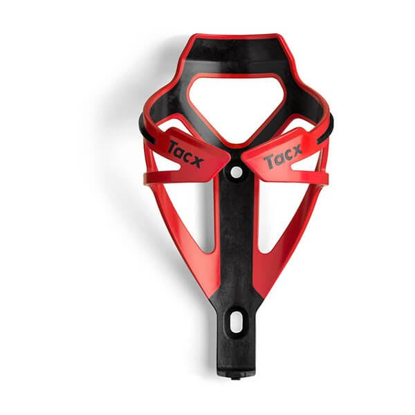 Tacx Deva Water Bottle Cage - Red & Black
