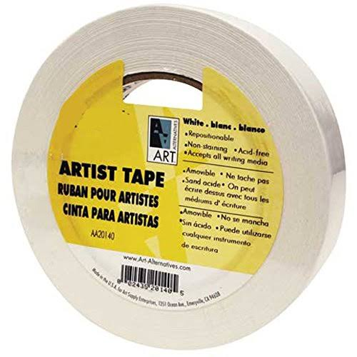 "Art Alternatives Economy Artist Tape - White, 1.5"" x 60 yards"