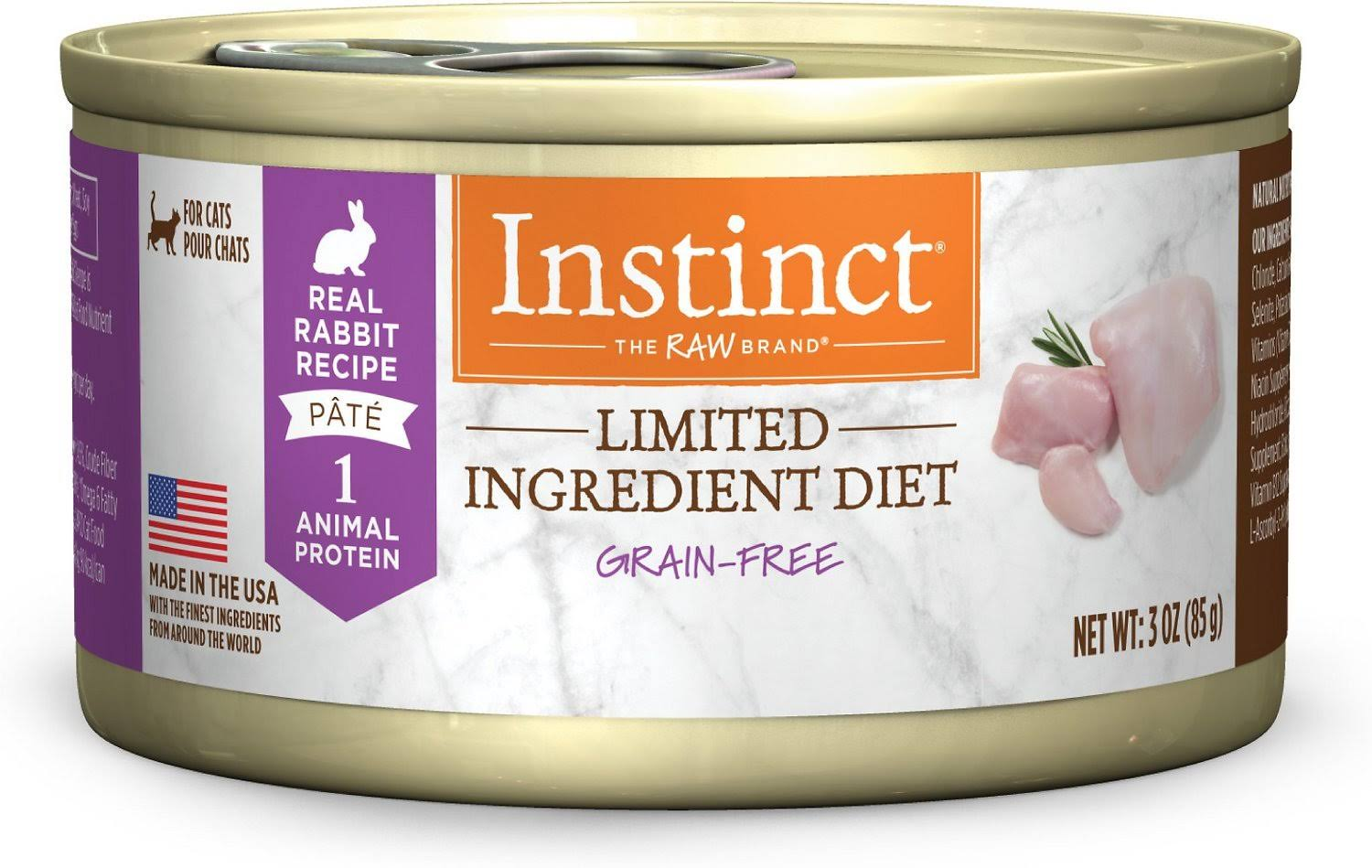 Nature's Variety Instinct Cat Food - Rabbit Formula, 3oz