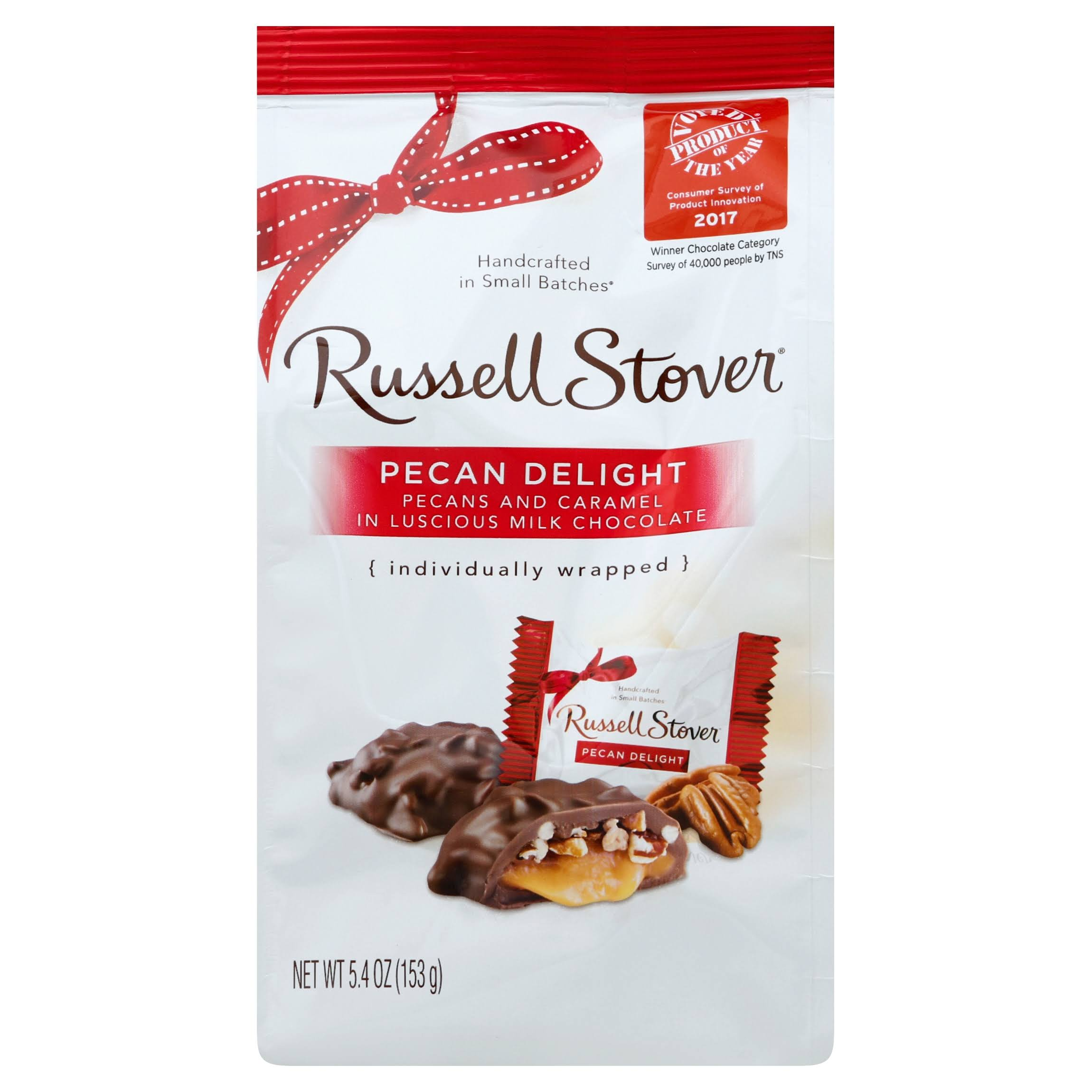 Russell Stover Pecan Delight Caramel and Luscious Milk Chocolate - 5.4oz