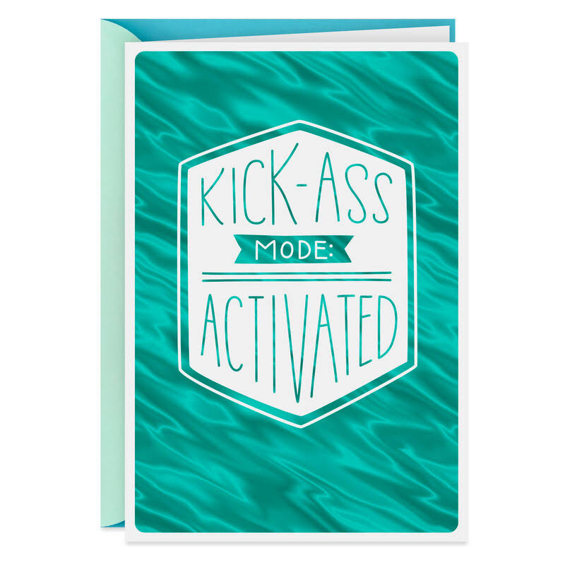 Kick-Ass Funny Encouragement Card