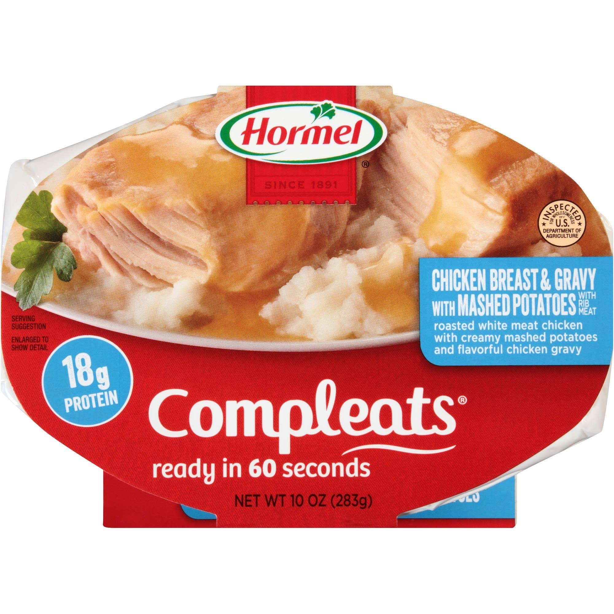 Hormel Compleats Ready Meals - Chicken Breast & Gravy with Mashed Potatoes, 10oz
