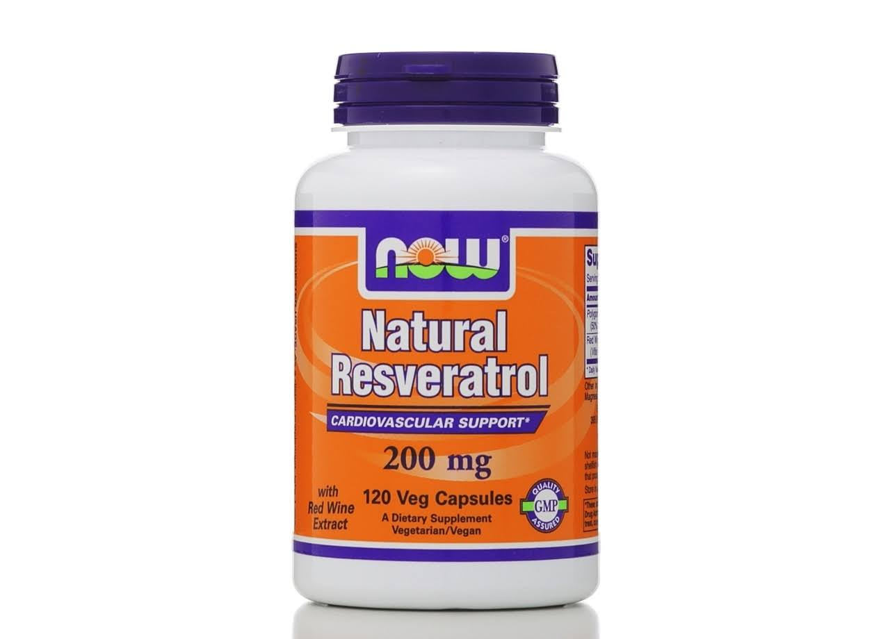 Now Natural Resveratrol Cardiovascular Support - 120 Capsules