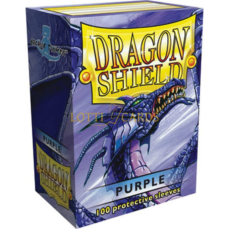 Dragon Shield Sleeves - 100 Pack, Purple